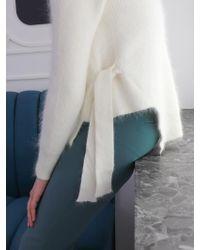 PLOT Side Ribbon Angora Knit_3colors - White