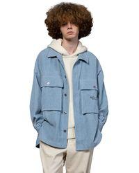 Heich Blade Corduroy Big Pocket Outer Shirt - Blue