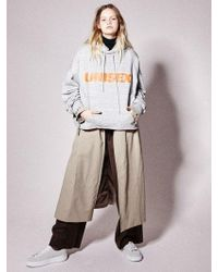 NOHANT - Unisex Cropped Hoodie Gray - Lyst