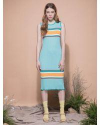 MOIMOII - Multi Color Sleeveless Knit Dress - Lyst