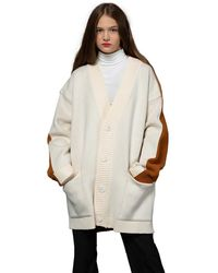 Heich Blade Front And Back Oversized Cardigan - White
