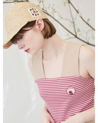ANOTHER A - Straw Cap Natural - Lyst
