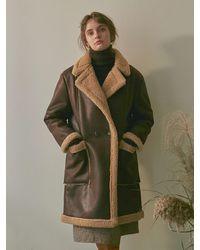 YAN13 Leather Fleece Middle Mustang_brown