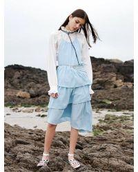 W Concept - Asymmetric Long Dress _ L.blue - Lyst