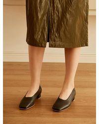 MARONY CROSHET Mc 004 Square Toe Mid Court Shoes Grey