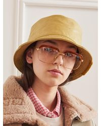13Month Faux Leather Bucket Hat - Brown