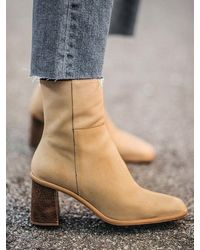Alohas West Ankle Boots - Natural