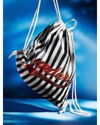 UNDER82 Shinning Drawstring Wappen Bag White