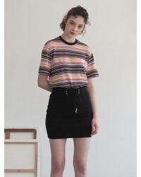 TARGETTO - 254 Stripe Knit 254 Multi Stripe T-shirts - Lyst