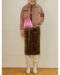 Fleamadonna - Velvet Belt Skirt Khaki - Lyst