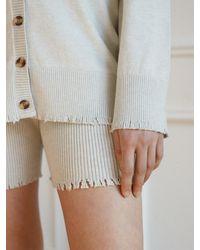 Baby Centaur Like Cashmere Wound Knit Pant [] - Grey