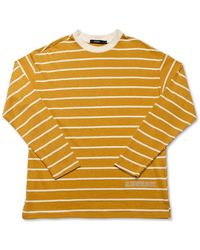 MADMARS [unisex]yellow Texture Long Sleeve T-shirts