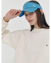 Clove Cotton Sun Visor - Blue