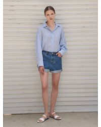 NILBY P Nm 1904 Denim Shorts - Blue