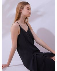 MILLOGREM Brevit Slip Dress - Black