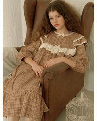ULLALA PAJAMAS Carmin Capri Dress - Brown