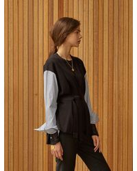 Clue de Clare Shirt Sleeve Cardigan - Black