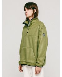 APPARELXIT Fleece Anorak - Green