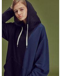 W Concept - U Half Hood Sw Bk - Lyst