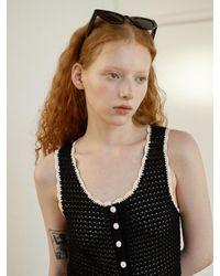 Baby Centaur Hand Crossing Knit Dress [] - Black