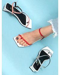 IGINOA Square Flip Flop Sandals - Multicolour