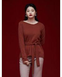 Grace Raiment - Unbalanced Neckline Sweatshirt - Lyst