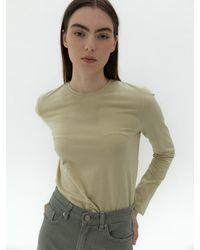 38comeoncommon Crewneck Crop T-shirts (light Yellow) - Multicolor