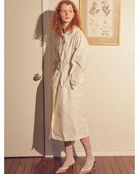 Salon de Yohn Ring Buckle Trench Coat - White
