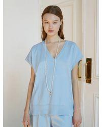 Baby Centaur Like Cashmere Knit Vest [] - Blue