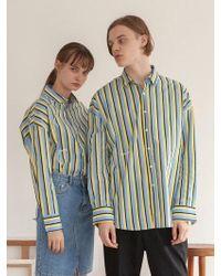 TARGETTO - [unisex] Stripe Shirt Sky - Lyst