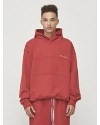 W Concept - [unisex] Oversized Logo Hoodie Red - Lyst