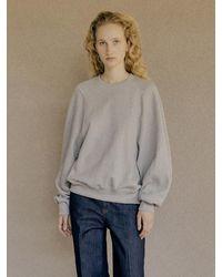 Low Classic Stitched Long Sleeve Sweatshirt (grey) - Gray