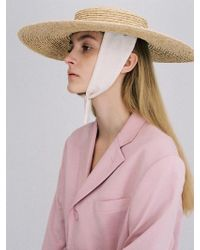 Awesome Needs - Raffia Straw Boater Hat Cotton Ribbon - Lyst