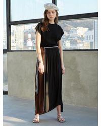 J.CHUNG Leina Shirring Long Skirt () - Black