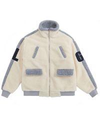 LIBERTENG Unisex Heavy Faux Fur Turtle Jacket - Grey