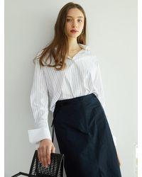 F.COCOROMIZ Coco St Wide Cuffs Shirt (wh) - White