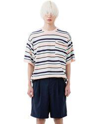 Heich Blade Stripe Short Sleeve Knit - Multicolour