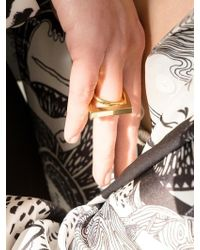 VIOLLINA - Square Inner Twisted Ring Gold - Lyst