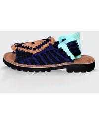 Chubasco Men-aztec Sandals S130214 Navy Black - Blue