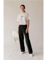 AEER - Trousers Solid High Waist Bk - Lyst