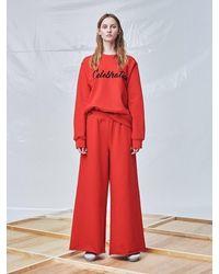 Fleamadonna Rsvp Sweat Trousers - Red
