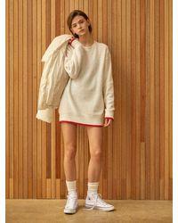 Clue de Clare Oversize Angora Knitwear - White