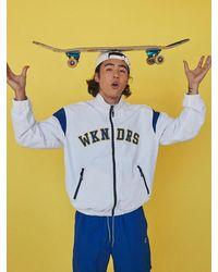 WKNDRS Athletic Zip Up Jacket White