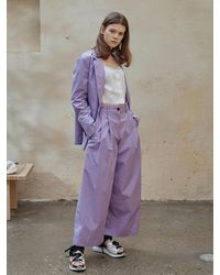 OUAHSOMMET Silky Air Two Way Pants Violet - Blue