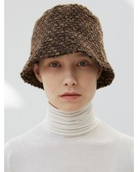 Awesome Needs Wavy Lampshade Hat - Brown