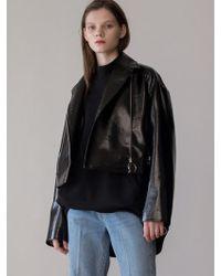 AEER - O Ring Zip Rider Jacket Black - Lyst