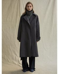 Low Classic |^|double Trench Coat Grey