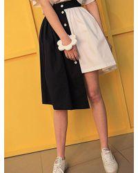 Fleamadonna Unbalance Skirt - Multicolor