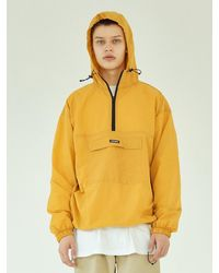 LAYER UNION Solid Over Anorak Jacket-yellow