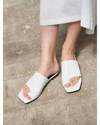 MARONY CROSHET 007 Cutout Flat Sandals 4 Colours - Black
